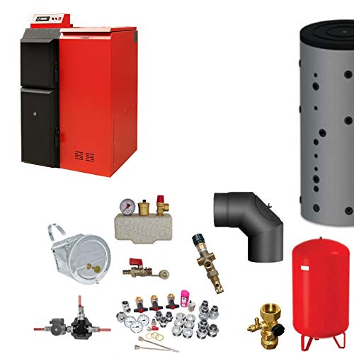 Caldera de Pellets Pelling 25 Eco 230kg + Pellet + Bafa Transportable Set Completo 2