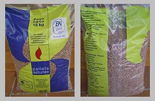 Pellets Asturias; palé de pellets 72 sacos. Certificado ENPlusA1. Para estufas y calderas.